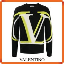 VALENTINO INTARSIA WOOL JUMPER MIXED CASHMERE