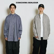 【CONICHIWA bonjour】BIG NERD SHIRTS  NAVY CHECK/BEIGE CHECK