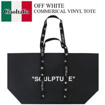 OFF WHITE COMMERICAL VINYL TOTE