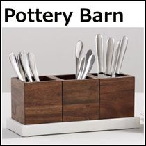 Pottery Barn Chateau Marble & Acacia Wood Flatware Caddy収納