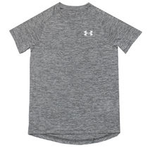 UNDER ARMOUR (アンダーアーマー ) キッズ用トップス Boy's Under Armour Junior Reflective T-Shirt in Grey