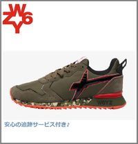 W6YZ(ウィズ) スニーカー 注目[W6YZ]jet-m. sneakers in technical fabric - military/red