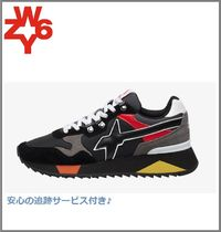 W6YZ(ウィズ) スニーカー 注目[W6YZ]yak-m.sneaker in suede and technical fabric -black
