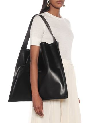 Jil Sander トートバッグ 【JIL SANDER】Border Medium leather tote(3)