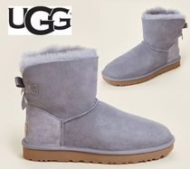 UGG☆Soft Amethyst Mini Bailey Bow II Shearling-Lined Boots