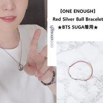 【ONE ENOUGH】Red Silver Ball Bracelet ★BTS SUGA着用★