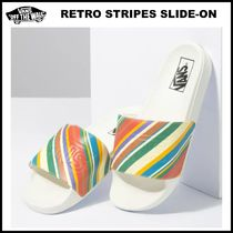 20-21AW!! ◆Vans◆ WOMENS RETRO STRIPES SLIDE-ON