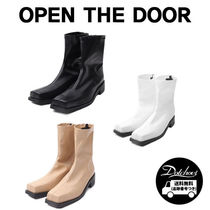 OPEN THE DOOR front square ankle boots (3 color) CA17 追跡付