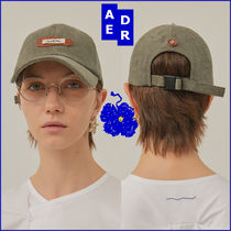 ADERERROR★韓国人気 男女兼用★Crumple leather patch cap