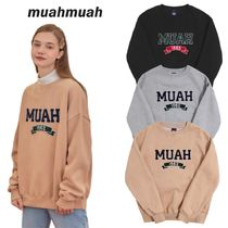 【muahmuah】Boucle Line Double Napping スウェット 3色