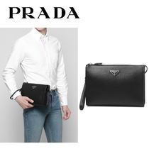 ☆PRADA☆ SAFFIANO LEATHER クラッチバッグ
