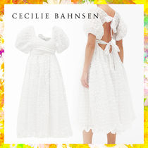 【CECILIE BAHNSEN】マヤ シアサッカードレス バックリボン
