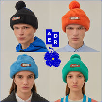 ADERERROR★人気 男女兼用★Crumple leather patch beanie_4色