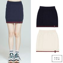 ROMANTIC CROWN★CABLE KNIT MIDI SKIRT 2色