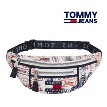 Tommy Jeans☆HERITAGE プリントキャンバスウエストポーチ☆T