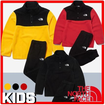 THE NORTH FACE キッズ用トップス ☆人気☆THE NORTH FACE☆K'S ECO FLEECE SNAP R TEE SET☆