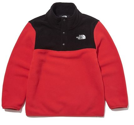 THE NORTH FACE キッズ用トップス ☆人気☆THE NORTH FACE☆K'S ECO FLEECE SNAP R TEE SET☆(3)