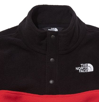 THE NORTH FACE キッズ用トップス ☆人気☆THE NORTH FACE☆K'S ECO FLEECE SNAP R TEE SET☆(5)