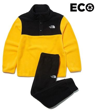 THE NORTH FACE キッズ用トップス ☆人気☆THE NORTH FACE☆K'S ECO FLEECE SNAP R TEE SET☆(9)