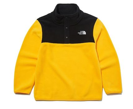 THE NORTH FACE キッズ用トップス ☆人気☆THE NORTH FACE☆K'S ECO FLEECE SNAP R TEE SET☆(10)