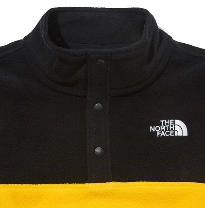 THE NORTH FACE キッズ用トップス ☆人気☆THE NORTH FACE☆K'S ECO FLEECE SNAP R TEE SET☆(12)