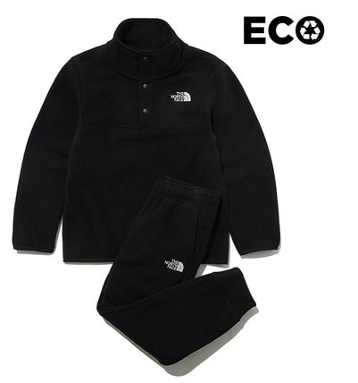 THE NORTH FACE キッズ用トップス ☆人気☆THE NORTH FACE☆K'S ECO FLEECE SNAP R TEE SET☆(15)