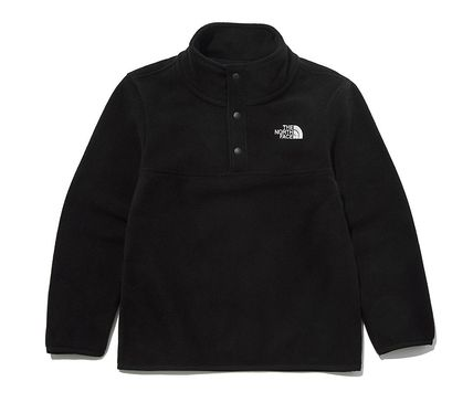 THE NORTH FACE キッズ用トップス ☆人気☆THE NORTH FACE☆K'S ECO FLEECE SNAP R TEE SET☆(16)