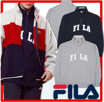 ☆BTS 着用☆人気☆【FILA】☆NEWTRO NECK POINT HALF ZIPUP☆