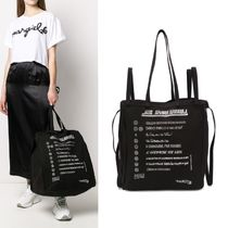 【Maison Margiela】MM6 Printed Cotton Canvas Tote ブラック