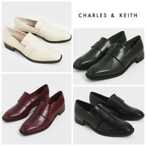 ★CHARLES & KEITH★Square Toe Penny Loafers/送料込