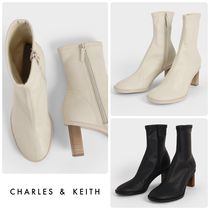 ★CHARLES & KEITH★Side-Zip Ankle Boots ブーツ/送料込