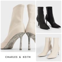 ★CHARLES & KEITH★Stiletto Heel Ankle Boots ブーツ/送料込