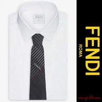 【国内発送】FENDI ネクタイ Striped jacquard silk tie