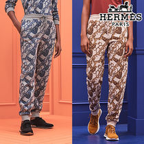 HERME′S直営店 Pantalon a coulisse imprime 2色