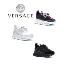 ☆VERSACE☆CHAIN REACTION PANELLED SNEAKERS