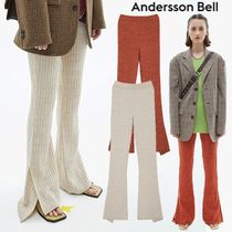 ANDERSSON BELL(アンダースンベル) パンツ ★ANDERSSON BELL★日本未入荷 RIBBED KNIT SLIT FLARED PANTS