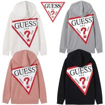 日本未入荷★GUESS★BACK BIG LOGO HOODED SWEATSHIRTS 4色
