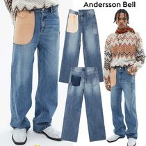 ★ANDERSSON BELL★日本未入荷 韓国 DENIM PATCH RE-WORK JEANS