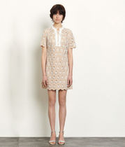 sandro サンドロShort broderie anglaise dress ワンピース