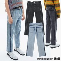 ANDERSSON BELL★韓国 RE-MADE PANNEL STRAIGHT-LEG CROP JEANS