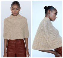 ZARA【NEW】 CROPPED KNIT CAPEDETAILS