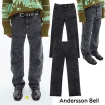 ★ANDERSSON BELL★日本未入荷 韓国 BLEACH WASHED ZIPPER JEANS