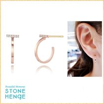 STONE HENgE Silhouette Collection 14K ローズゴールド ピアス