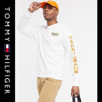 SALE【Tommy Jeans】長袖 ロゴ Tシャツ ホワイト / 送料無料