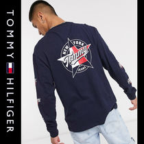 SALE【Tommy Jeans】長袖 ロゴ Tシャツ ネイビー / 送料無料