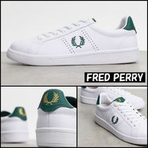 【FRED PERRY】B721 trainer 刺繍 ロゴ レザー スニーカー ♪