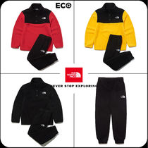 [THE NORTH FACE]★韓国大人気★K'S ECO FLEECE SNAP R/TEE SET