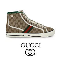 追跡あり GUCCI Men's Gucci Tennis 1977 High-Top スニーカー