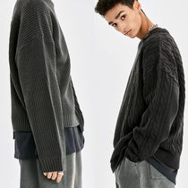 [ATTENTIONROW] ROYAL CABLE UNBALANCE OVER-FIT WOOL KNIT