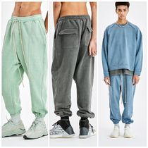 ATTENTIONROW(アテンションロー) パンツ 国内発送[ATTENTIONROW] BRIGHT PIGMENT WIDE LONG JOGGER PANTS